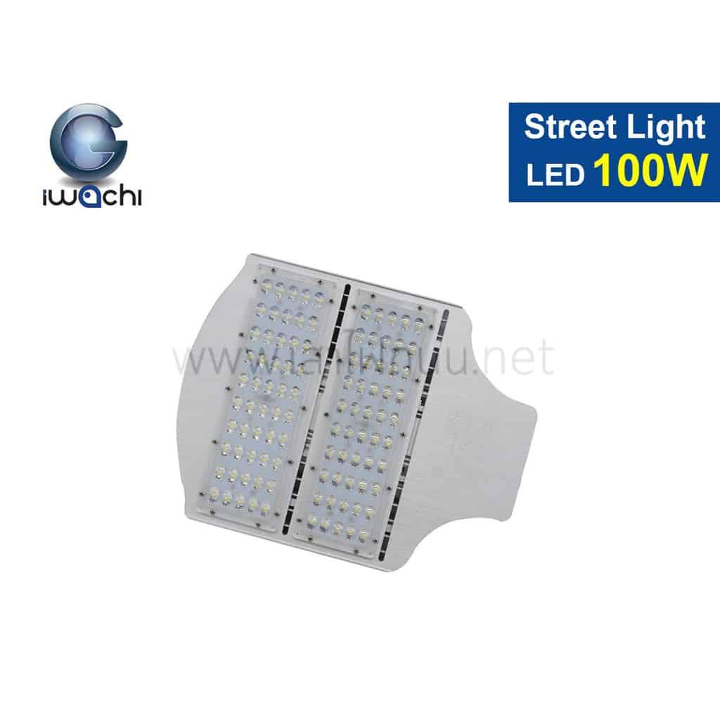โคมไฟถนน led street light 100w new วอร์มไวท์ iwachi