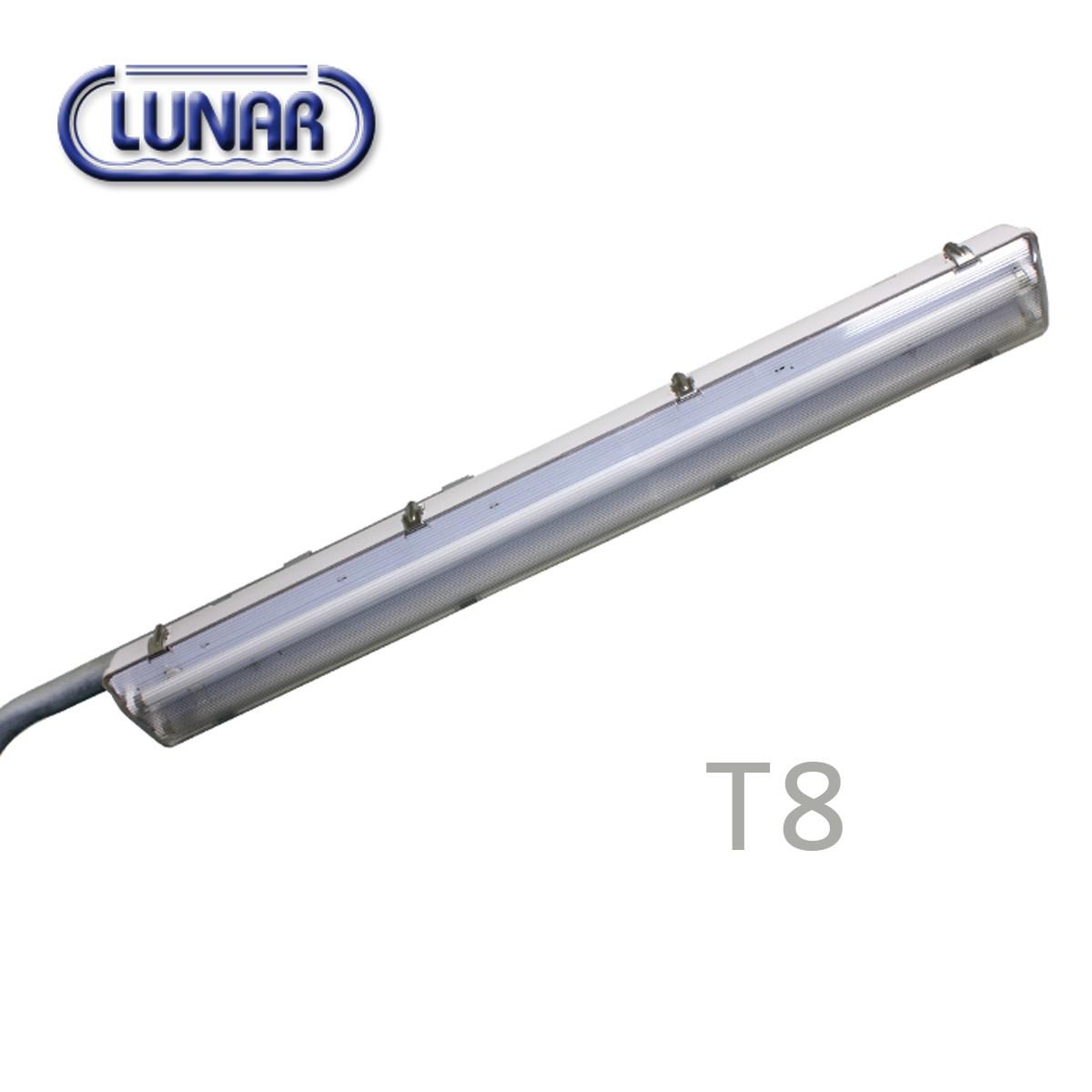 โคมไฟถนนโพลีคาร์บอเนต สำหรับหลอด T8