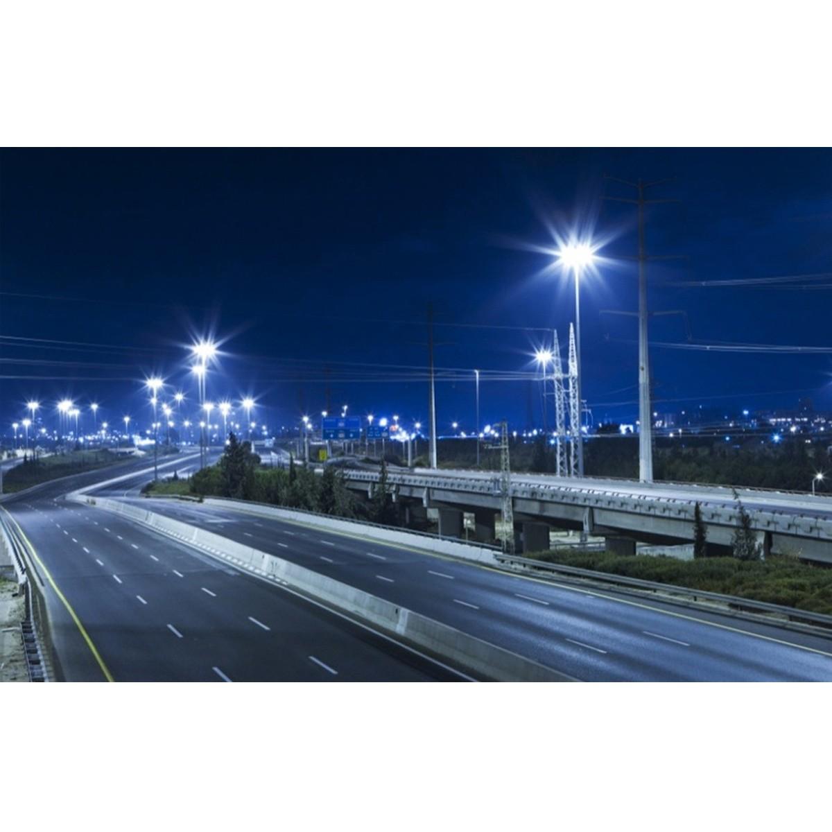 ตัวอย่างโคมไฟถนน LED Street Light 50w (เดย์ไลท์) FSL