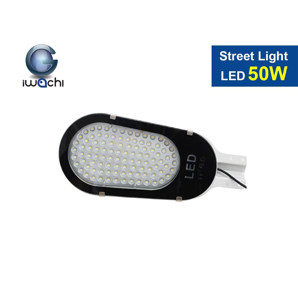 โคมไฟถนน LED Street Light พร้อมขายึด 50w (วอร์มไวท์) IWACHI