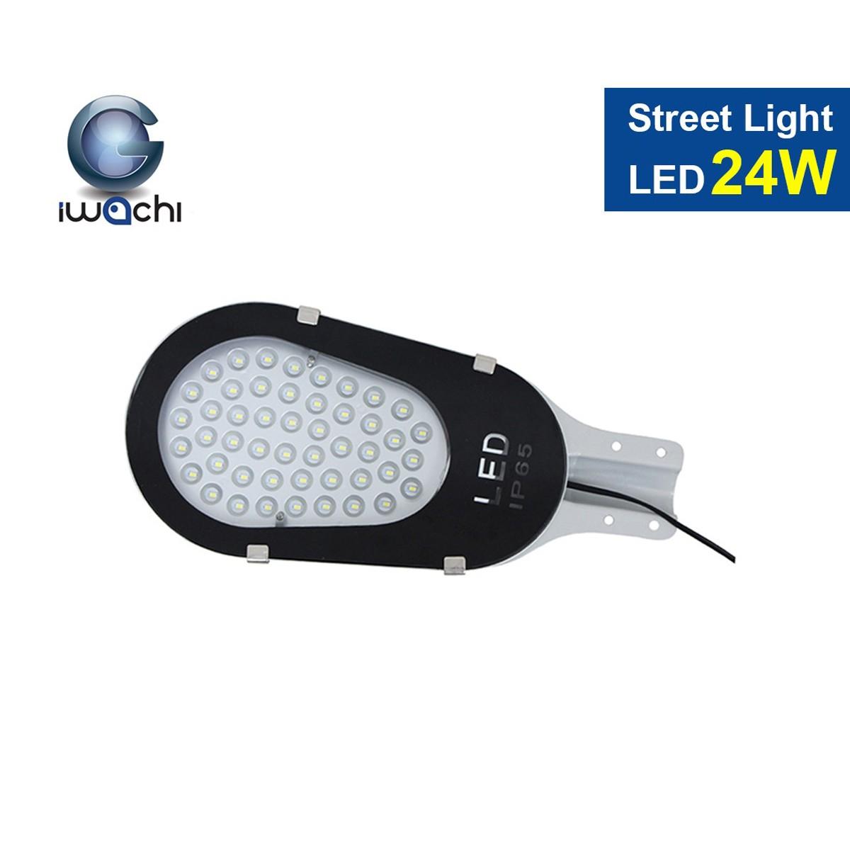 โคมไฟถนน LED Street Light พร้อมขายึด 24w (เดย์ไลท์) IWACHI