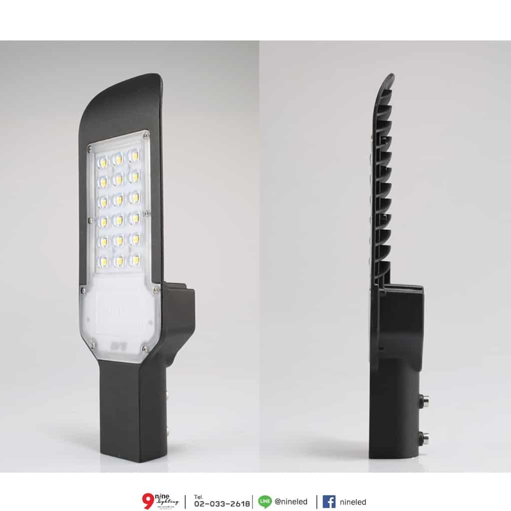โคมไฟถนน LED Flat 50W (เดย์ไลท์) EVE