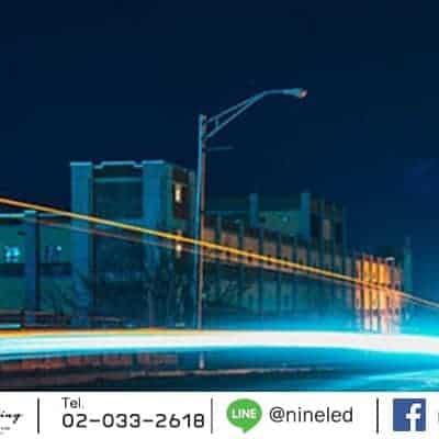 ตัวอย่างโคมไฟถนน LED Street Light 180w (เดย์ไลท์) IWACHI