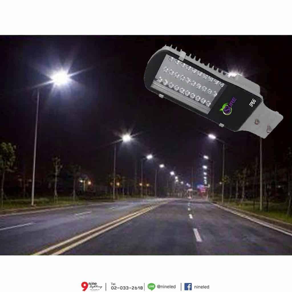โคมไฟถนน LED Street Light 24w (วอร์มไวท์) SURE