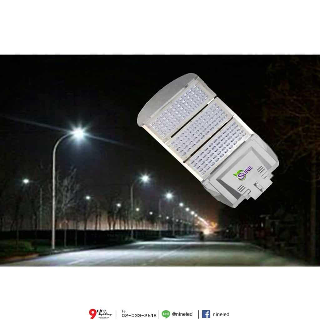 โคมไฟถนน LED Street Light 200w (วอร์มไวท์) SURE