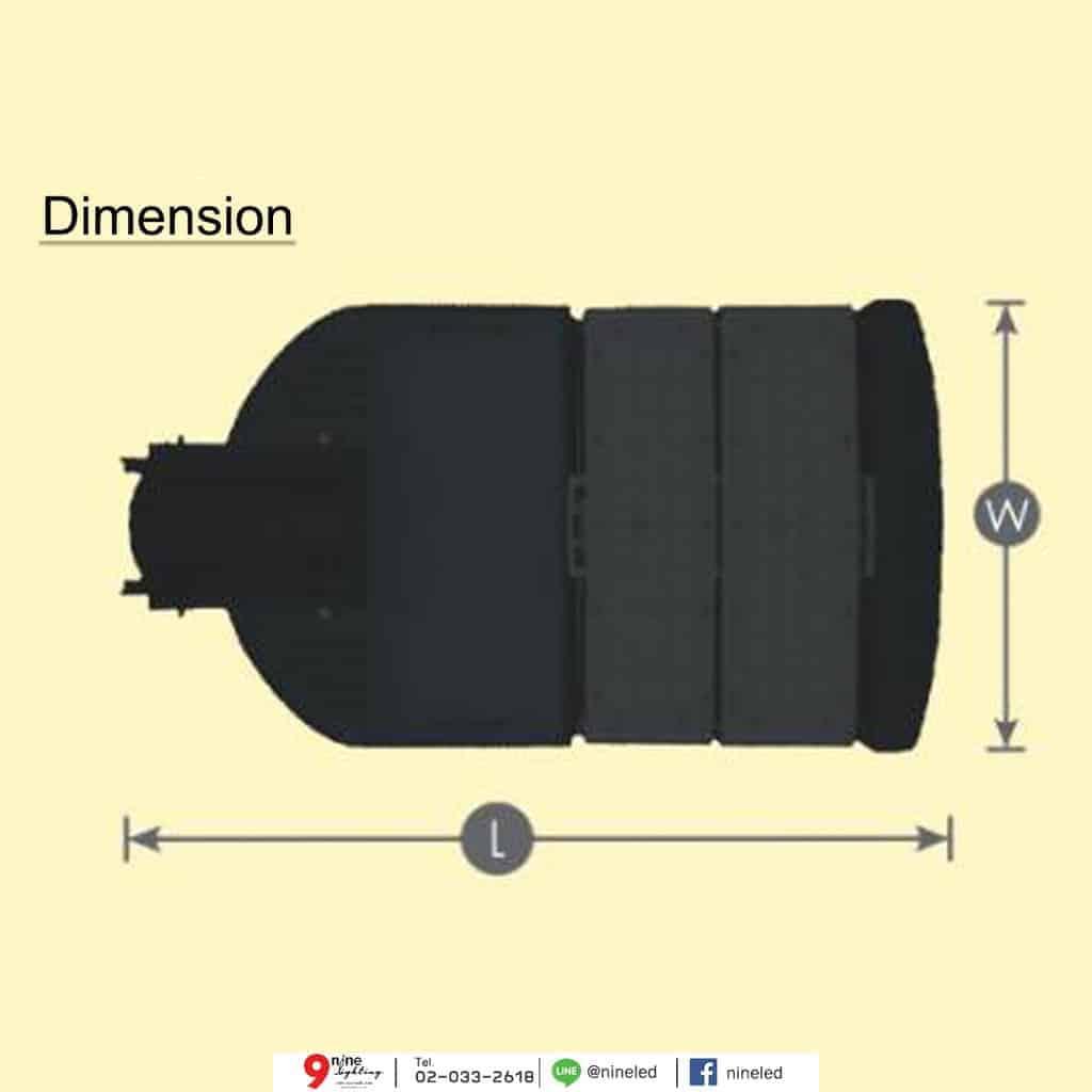 โคมไฟถนน LED 90w Module Series (วอร์มไวท์) GATA