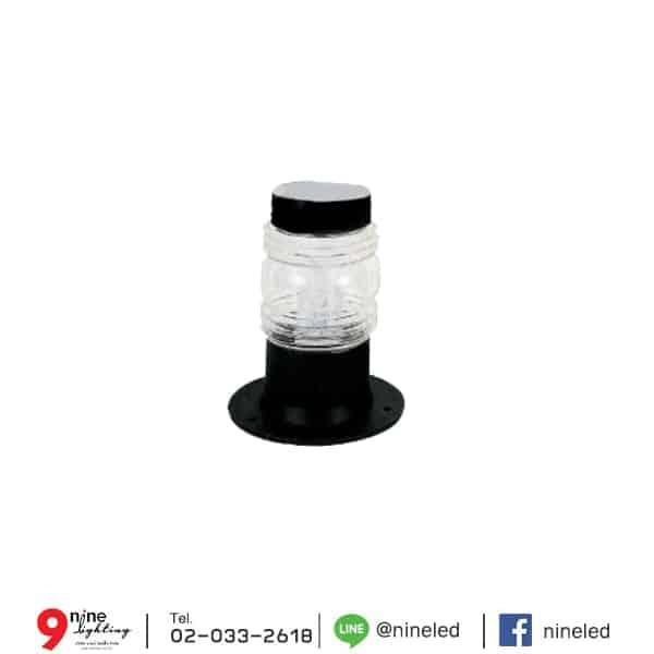 โคมไฟสนามหญ้า โป๊ะแก้วหัวน็อตใส รุ่น PU-216-C (A)